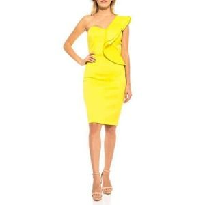 Alexia Admor Adriana Dress L One-Shoulder Ruffle